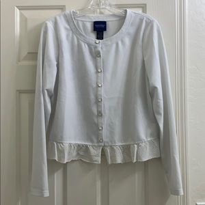 Doncaster collection white button up size 8